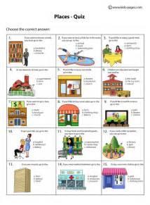 places quiz worksheet