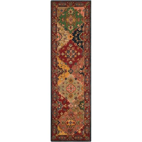 safavieh heritage accent rug in red multi hg926a 2 safavieh heritage red multi 2 ft 3 in x 12 ft runner