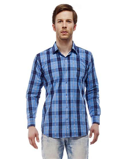 Jas Slim Fit jas blue cotton blend checks slim fit casual shirt buy jas blue cotton blend checks slim fit