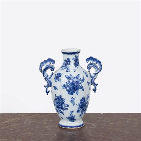 Blue Delft Vase by Delft Vase Blue And White Rococo Netherlands For Sale At