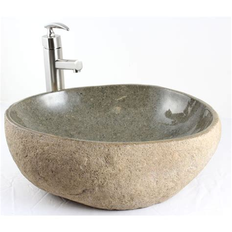Lavatory Sink River Rock Bathroom Lavatory Vessel Sink