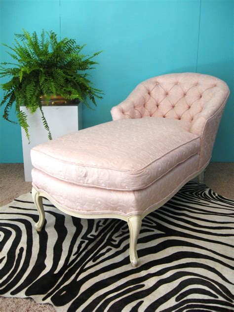 pink chaise lounge chair fabulous french pink embroidered silk vintage by fabulousmess