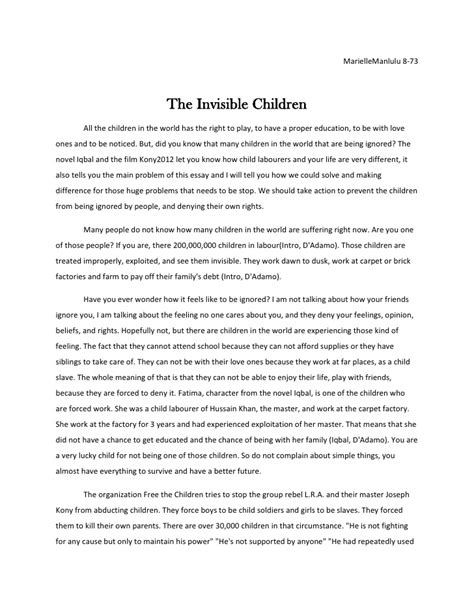 Child Soldiers Essay by Polution Essay