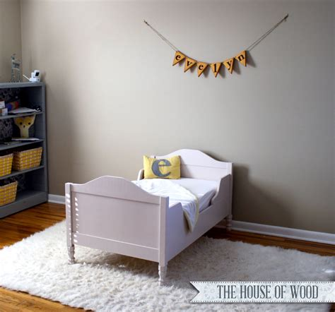 how to make a toddler bed diy restoration hardware inspired toddler bed