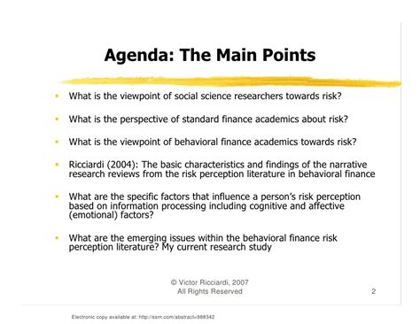 Risk Literature Review by A Literature Review Of Risk Perception Studies In Behavioral Finance