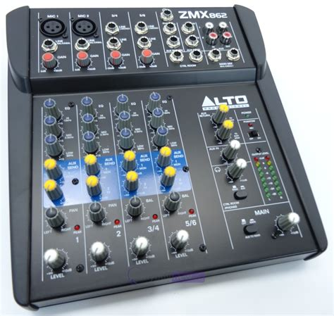 Mixer Alto 6 Channel alto zmx862 6 channel live mixer whybuynew