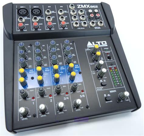 Alto Mixer Live Zmx862 alto zmx862 6 channel live mixer whybuynew
