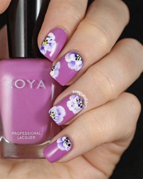 nail pattern designs 20 flower nail design ideas easy floral manicures
