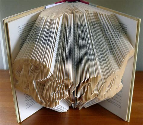 Paper Folding Sculpture - amazingly creative sculptures on folded book paper