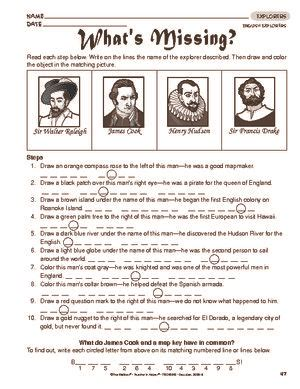 Canadian Explorers Worksheets