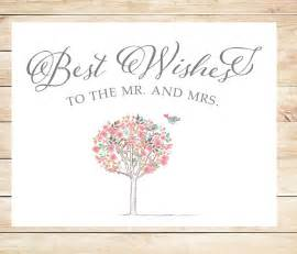 printable best wishes wedding card instant card