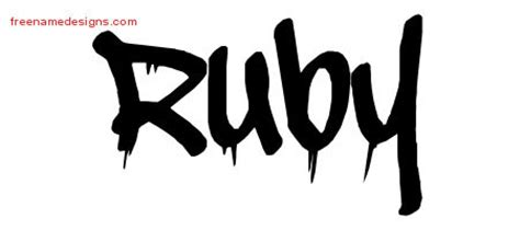 tattoo ideas for the name ruby graffiti name tattoo designs ruby free lettering free