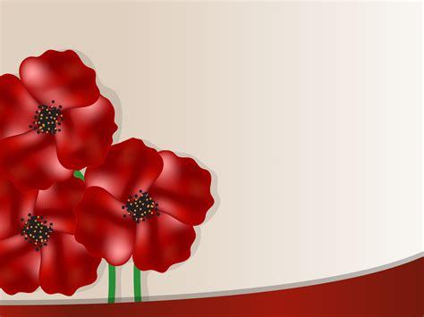 poppy background poppy flower backgrounds flowers templates free ppt
