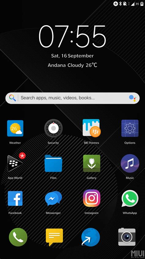 blackberry live themes blackberry dark is a feature rich theme chat mi
