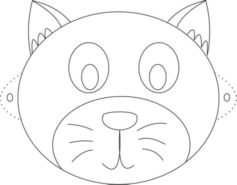 free coloring pages of cat face mask