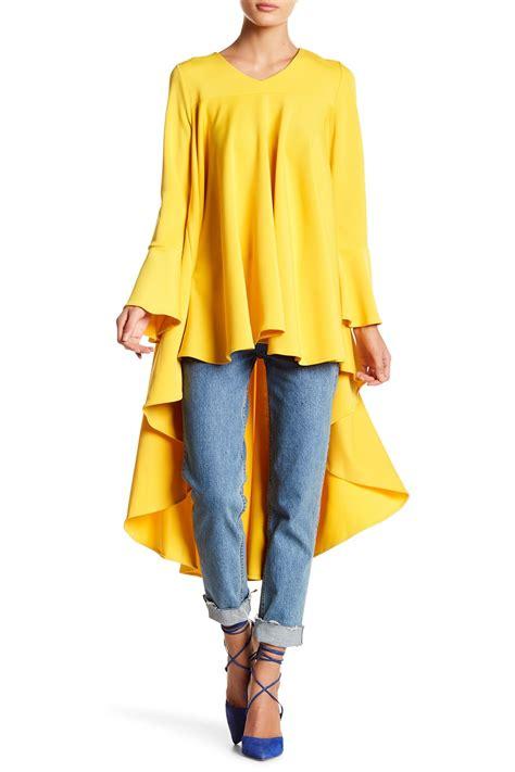 Dress Anak N Bab Dress Coat Color why dress bell sleeved hi lo ruffle top nordstrom rack