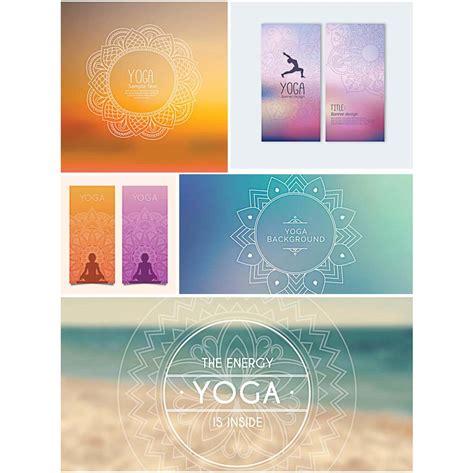 banner design for yoga yoga banners set vector free download