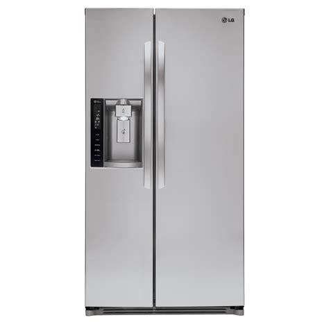 side by side or door refrigerator shop lg 26 2 cu ft side by side refrigerator with single