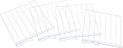kimball white wire closet shelf dividers set of 4