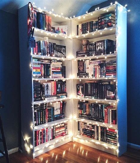 Book Shelf Ideas Fairy Lights Or Christmas DIY
