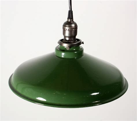 Porcelain Pendant Light Antique Industrial Pendant Light With Green Enamel Porcelain Shade 12 189 Diameter Nc1074 Rw