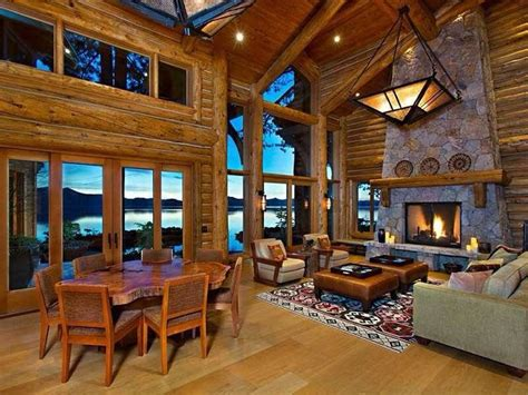 log cabin great room log cabin great room rustic home