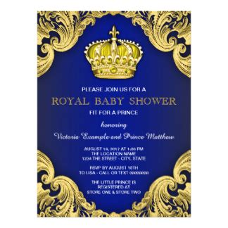 King Shower Invitations by Prince Theme Baby Shower Invitations Announcements Zazzle