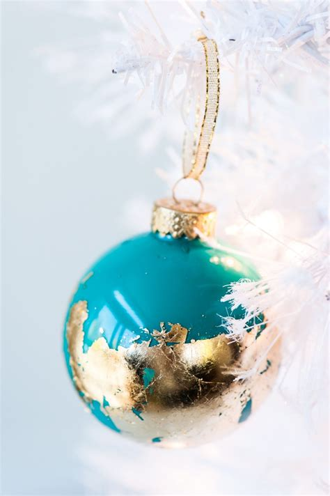 diy ornaments to make diy painted gold leaf ornaments the sweetest occasion