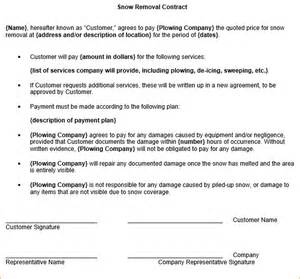 free snow removal contract templates 8 snow removal contract template timeline template