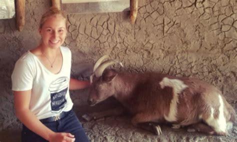 Tv Stand Gavril hilarious gavrilova chills alongside a goat calls it roger federer tsm