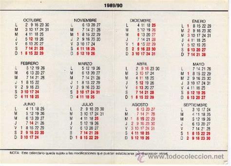 Calendario De 1989 Calendario Escolar De La Universidad Nacional D Comprar