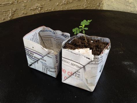 How To Make Paper Pots - how to make biodegradable newspaper seedling pots craft