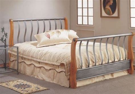 full size bed wood headboard and footboard sleigh bed frames full size carving on metal bed w wood
