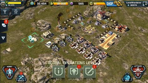 building layout game of war deployment and using a forward operating base war
