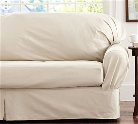 loose fit slipcover twill square cushion separate seat tailored loose fit