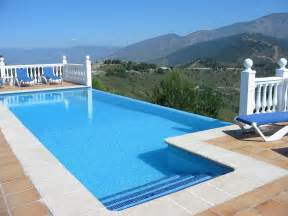 pictures of swimming pools luxury villa in spain with infinity edge swimming pool