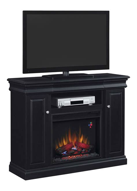 Electric Fireplace Media Console Louie Electric Fireplace Media Console In Black 23mm9643 X334