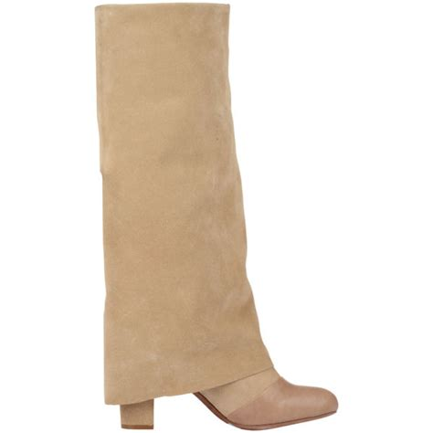 see by chlo 233 s fold suede boots sand free