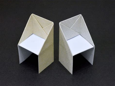 Paper Make - how to make an origami chair 13 steps with pictures