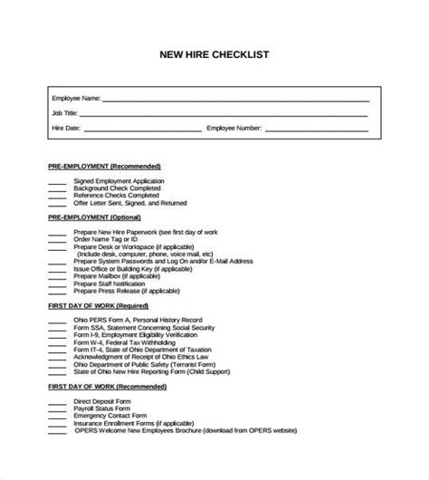 new employee training checklist template pictures to pin new