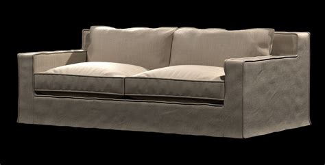restoration hardware capri sofa restoration hardware beige capri slipcovered sofa 3d model