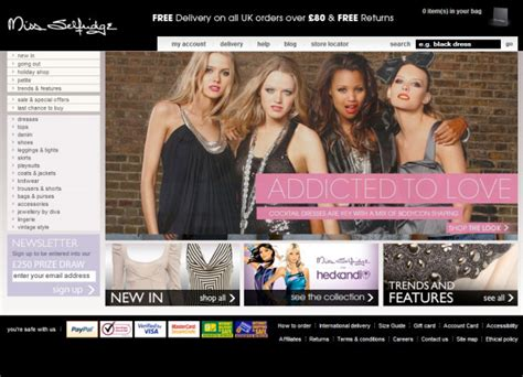 Miss Selfridge Site Relauch by 35 Inspirational Fashion Website Designs Webdesigner Depot