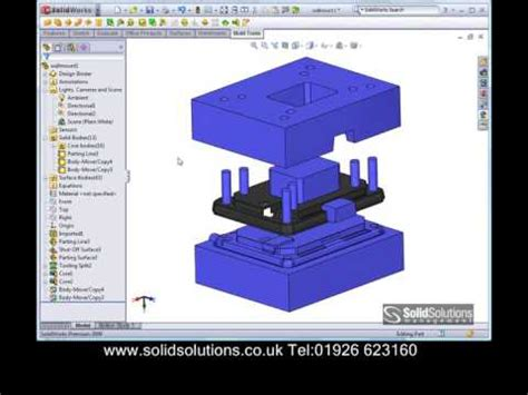 solidworks tutorial mold solidworks mould tool design youtube