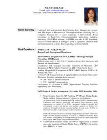 sles of professional summary for a resume 15 professional summary exles recentresumes