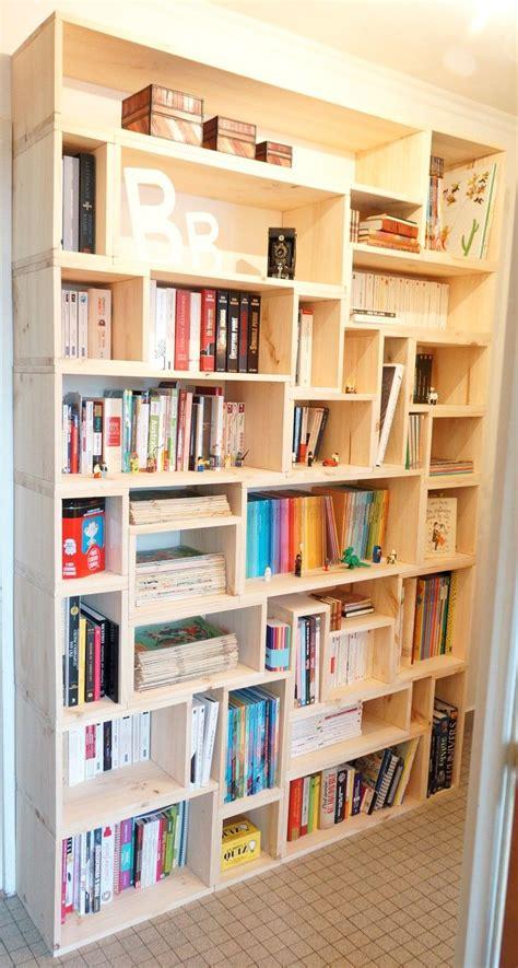 駘駑ents cuisine fabriquer sa biblioth 232 que en bois sur mesure maison d