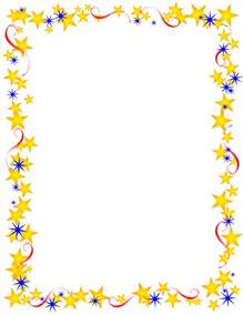 Photo Album With Memo Space Red Gold And Blue Stars Border Free Borders And Clip Art Com