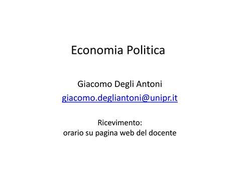dispense economia politica introduzione dispensa di economia