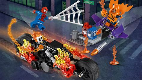 Lego Marvel Heroes 76058 Spidermanghost Rider Team Up Set 76058 spider ghost rider team up products marvel heroes lego