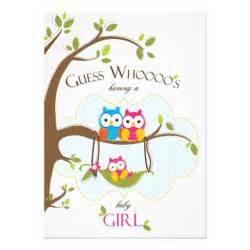 baby shower invitation owl family