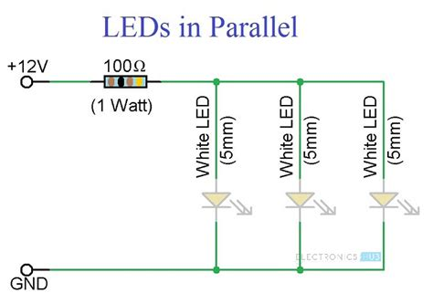 led simple circuit diagram simple led circuits single led series leds and parallel leds